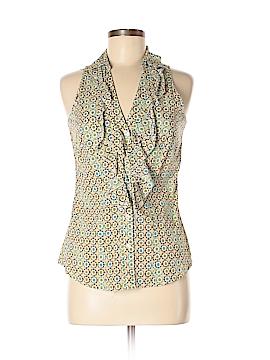 Ninety Sleeveless Button-Down Shirt Size S