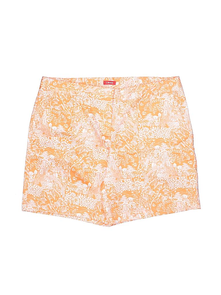 IZOD Women Khaki Shorts Size 8