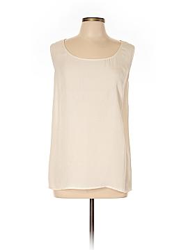 Citron Sleeveless Silk Top Size 3X (Plus)