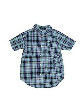 Chaps Short Sleeve Button-Down Shirt Size 5