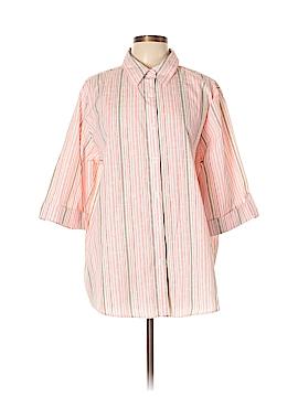 BonWorth 3/4 Sleeve Button-Down Shirt Size XL