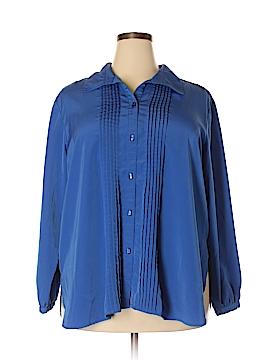 Susan Graver Long Sleeve Blouse Size 2X (Plus)