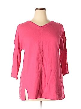 Soft Surroundings 3/4 Sleeve Blouse Size L