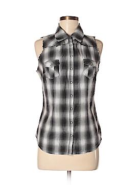 Guess Jeans Sleeveless Button-Down Shirt Size M