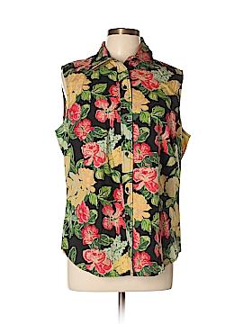 Casual Corner Sleeveless Button-Down Shirt Size XL