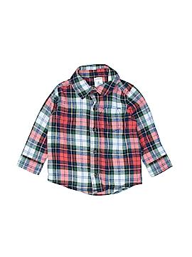 Cat & Jack Long Sleeve Button-Down Shirt Size 9 mo