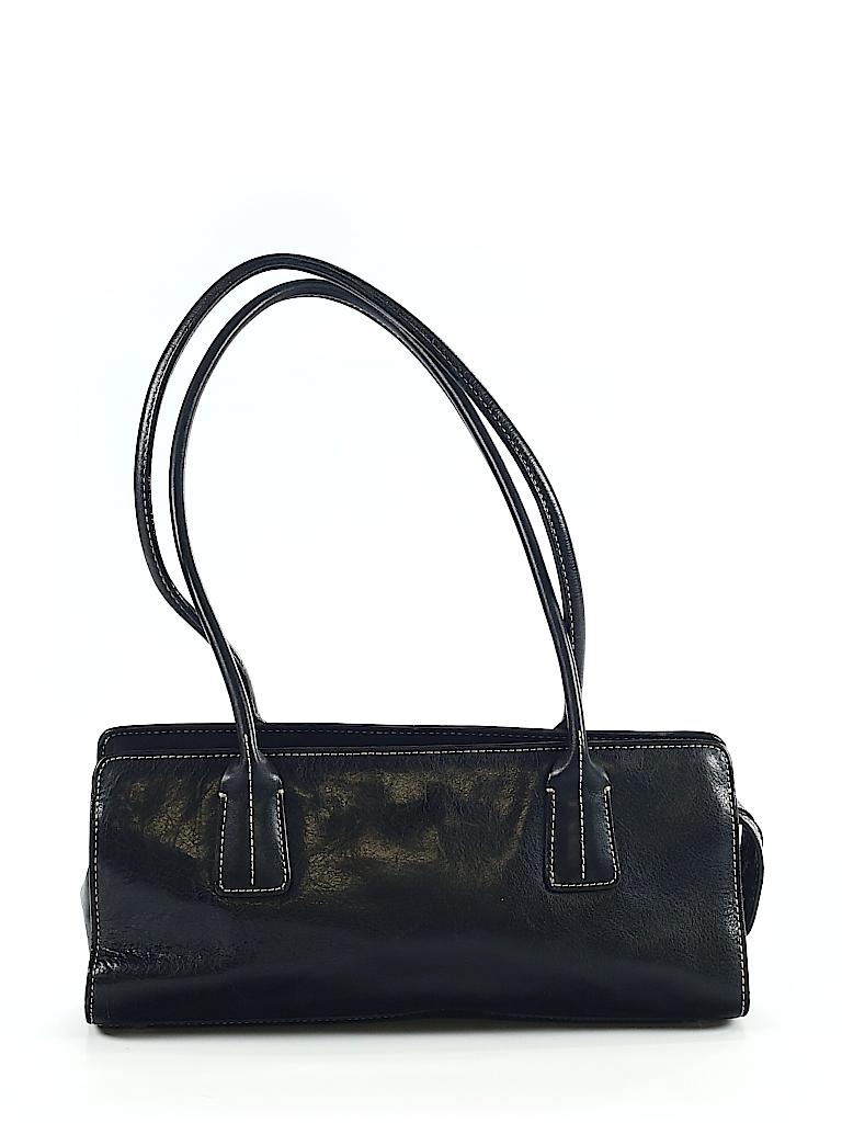 4c173defea4 Nordstrom 100% Leather Solid Black Leather Shoulder Bag One Size ...