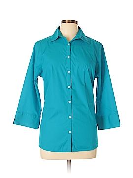 Lands' End 3/4 Sleeve Button-Down Shirt Size 12