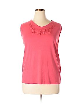 Koret Sleeveless T-Shirt Size 2X (Plus)