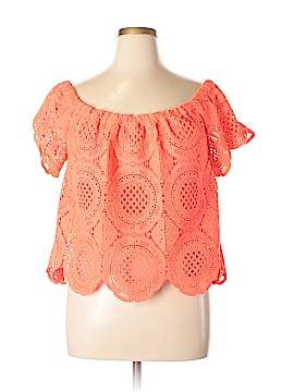 Bebe Short Sleeve Blouse Size XL