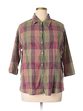 Fashion Bug 3/4 Sleeve Button-Down Shirt Size 26 - 28 (Plus)