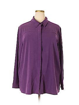 Sag Harbor Long Sleeve Blouse Size 2X (Plus)