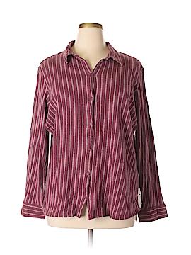 Ruff Hewn Long Sleeve Button-Down Shirt Size 3X (Plus)