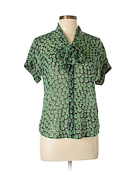 Z Spoke by Zac Posen Short Sleeve Silk Top Size 8