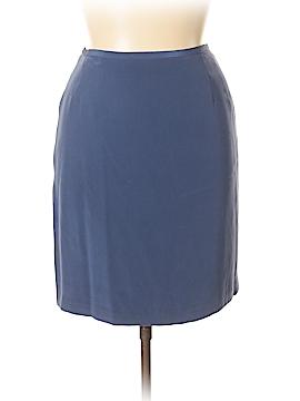 Casual Corner Silk Skirt Size 14