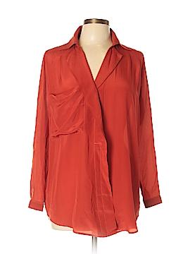 Line & Dot Long Sleeve Blouse Size S
