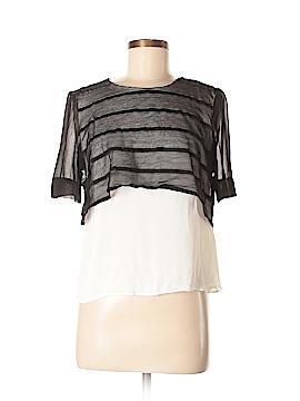 Sandro Short Sleeve Blouse Size Lg (3)