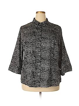 Apt. 9 3/4 Sleeve Button-Down Shirt Size 3X (Plus)