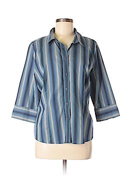 St. John's Bay 3/4 Sleeve Button-Down Shirt Size XL (Petite)
