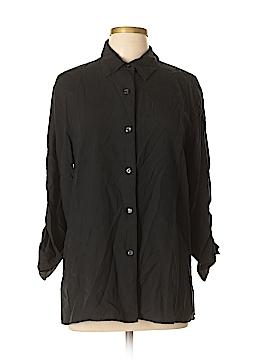 Sag Harbor Long Sleeve Silk Top Size 12