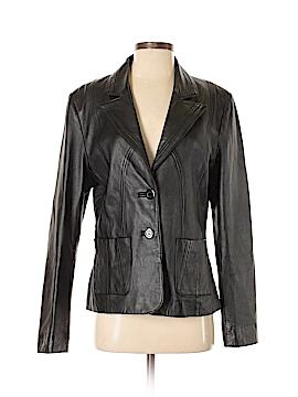 Uniform Faux Leather Jacket Size M