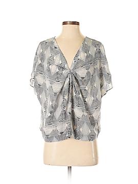 Greylin Short Sleeve Silk Top Size M