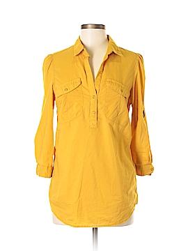 Fei Long Sleeve Button-Down Shirt Size 8