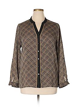 Roz & Ali Long Sleeve Blouse Size L