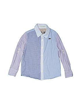 Scotch Shrunk Long Sleeve Button-Down Shirt Size 4/104