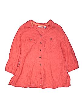 Edward 3/4 Sleeve Button-Down Shirt Size 1X (Plus)