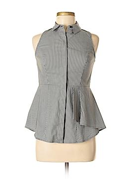 White House Black Market Sleeveless Button-Down Shirt Size 0