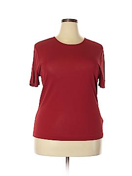 Anne Klein Short Sleeve Silk Top Size 1X (Plus)