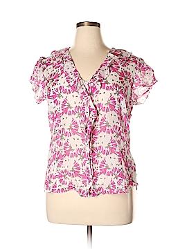 Banana Republic Factory Store Short Sleeve Silk Top Size XL