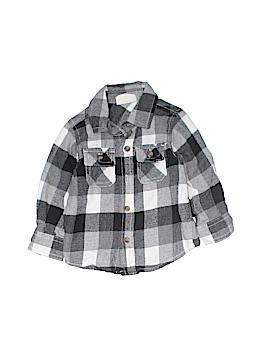 Crazy 8 Long Sleeve Button-Down Shirt Size 6-12 mo