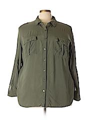 A.n.a. A New Approach Women Long Sleeve Button-Down Shirt Size 3X (Plus)