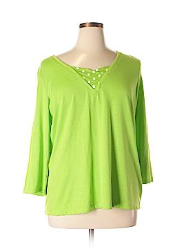 Designers Originals 3/4 Sleeve T-Shirt Size 1X (Plus)