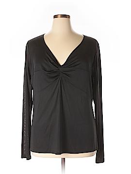 Marina Rinaldi Long Sleeve Silk Top Size 20 (XL) (Plus)