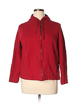 Gloria Vanderbilt Zip Up Hoodie Size 1X (Plus)