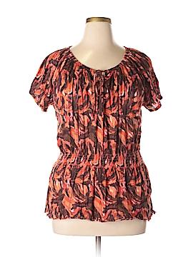 Allison Brittney Short Sleeve Top Size 2X (Plus)