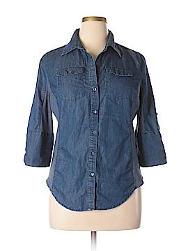 Ci Sono 3/4 Sleeve Button-Down Shirt Size XL