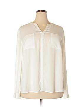 INC International Concepts Long Sleeve Blouse Size 20 (Plus)