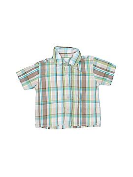 WonderKids Short Sleeve Button-Down Shirt Size 12 mo
