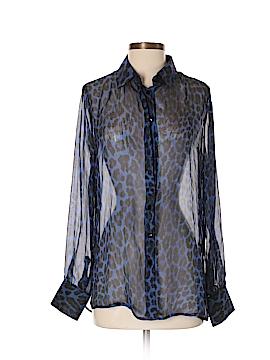Kay Celine Long Sleeve Silk Top Size S