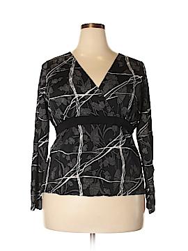 Kiwi 3/4 Sleeve Blouse Size 3X (Plus)