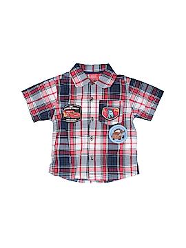 Disney Pixar Short Sleeve Button-Down Shirt Size 18 mo