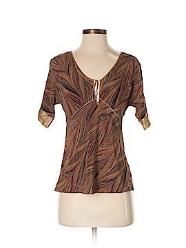 Kenneth Cole New York Short Sleeve Silk Top Size 2