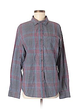 Modern Amusement Long Sleeve Button-Down Shirt Size M