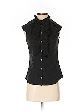 Boston Proper Short Sleeve Silk Top Size 4
