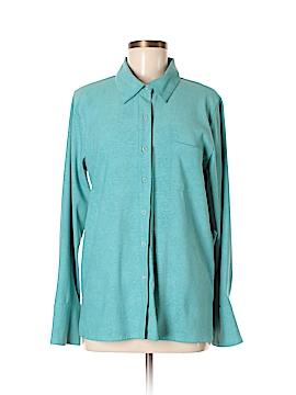 Denim & Co Long Sleeve Button-Down Shirt Size M