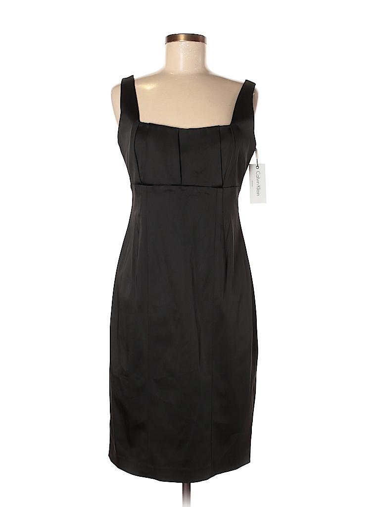 f96dbac42ac Calvin Klein Solid Black Cocktail Dress Size 8 - 72% off